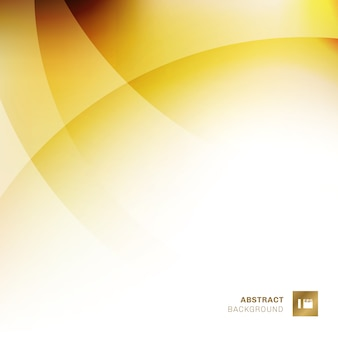Abstract yellow overlapping circles background
