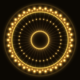 Abstract yellow ring