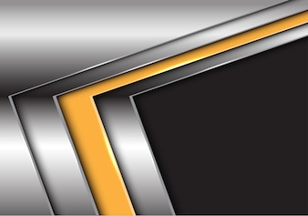 Abstract yellow silver arrow