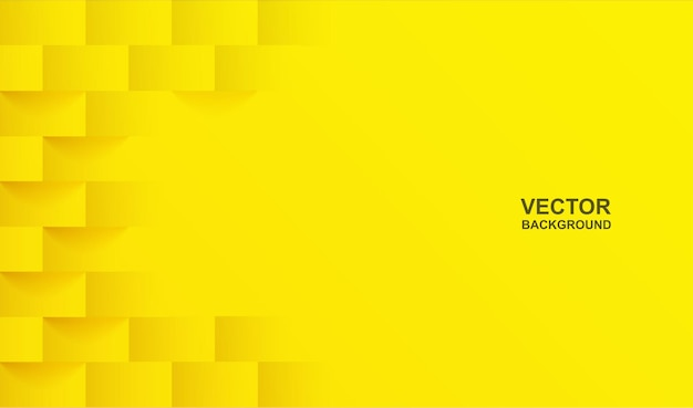 Abstract. yellow square shape geometric background. light and shadow.