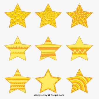 추상 노란 별