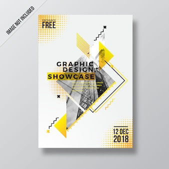 Abstract yellow style design flyer template