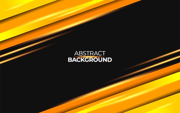 Abstract yellow vector background with gold neon light
