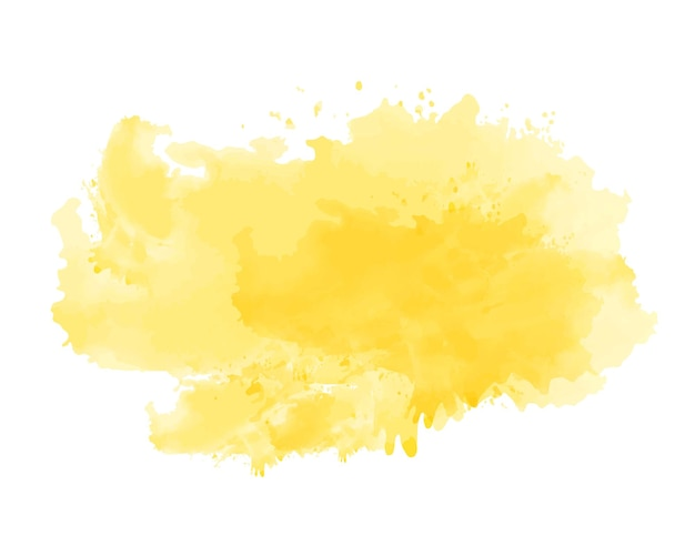 Abstract yellow watercolor painting background