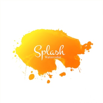 Abstract yellow watercolor splash design background