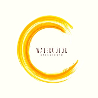 Abstract yellow watercolor stroke background