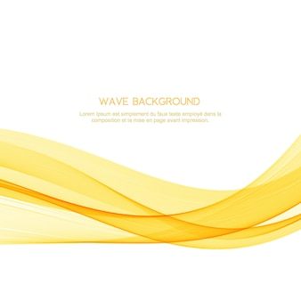 Abstract yellow wave elegant background