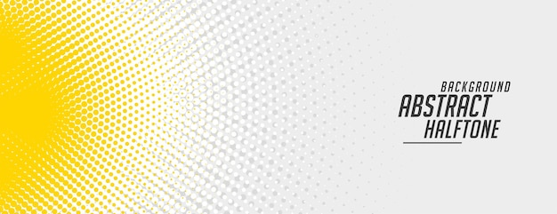 Abstract yellow and white halftone banner design