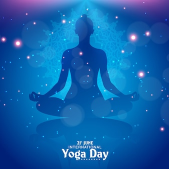 Abstract yoga day background vector illustration
