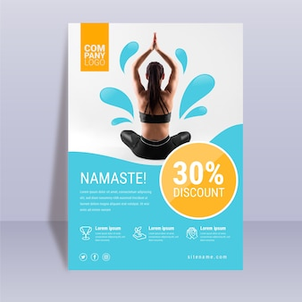 Abstract yoga poster template