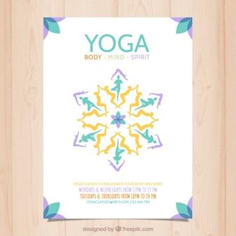 Abstract yoga poster