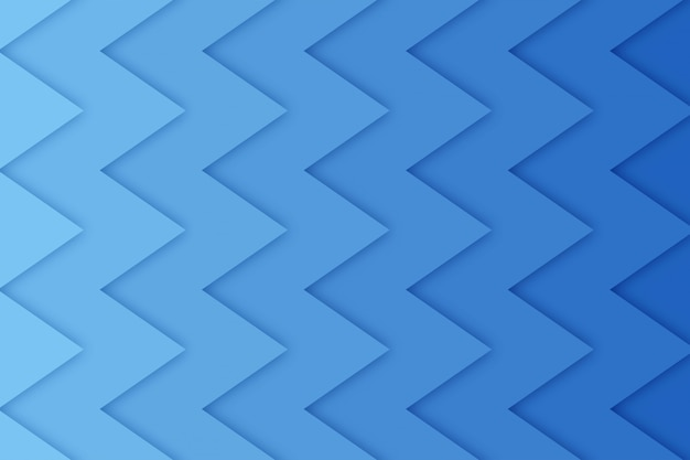 Abstract zig-zag background with paper cut shapes,