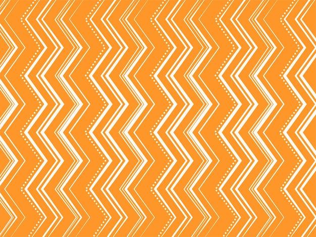 オレンジと白の色で抽象的なジグザグラインパターンの背景。