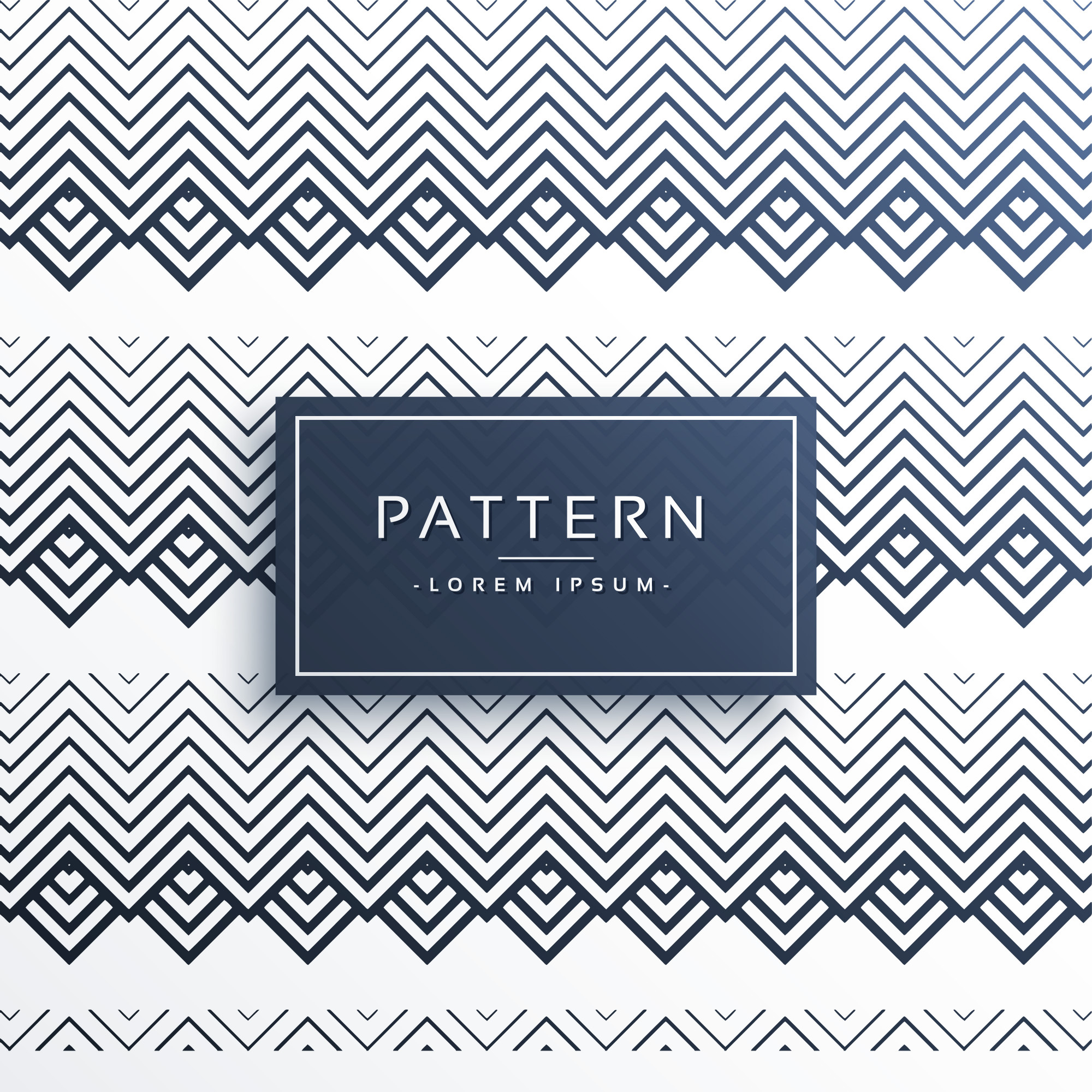 Abstract zigzag aztec style pattern