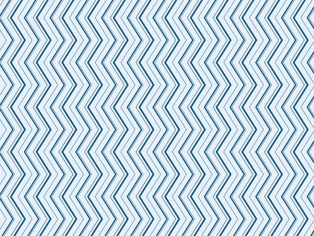 青い色の抽象的なジグザグ線パターンの背景。