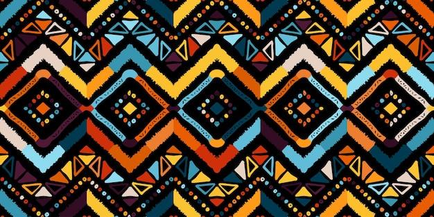 표지 디자인을 위한 추상 지그재그 패턴입니다. 레트로 쉐 브 론 배경입니다. 기하학적 장식 원활한 프리미엄 벡터