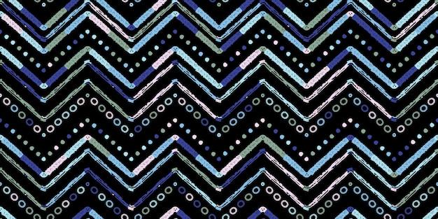 표지 디자인을 위한 추상 지그재그 패턴입니다. 레트로 쉐 브 론 벡터 배경입니다. 기하학적 장식 원활한