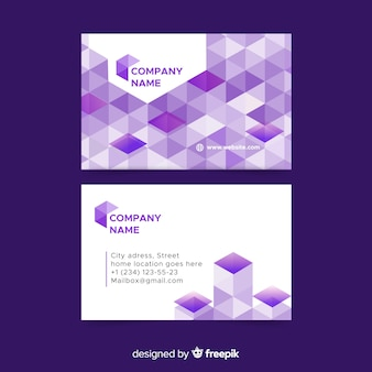 Abstracto geometric business card template