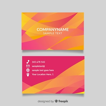 Abstracto gradient business card template