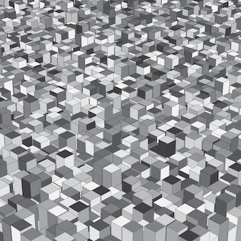 Abstrock isometric background with extruding cubes
