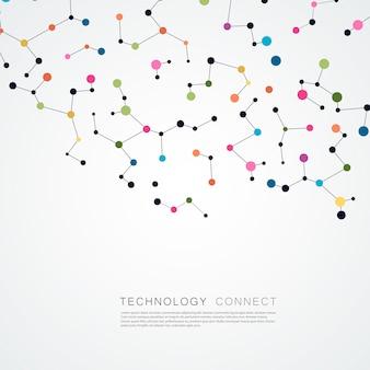 接続線とドットで抽象的な背景