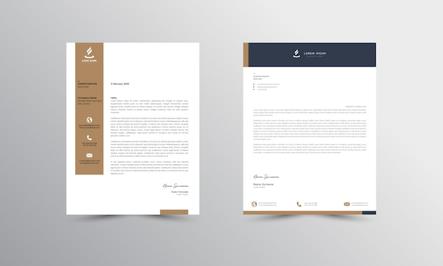 Abtract letterhead design modern business letterhead design template - vector