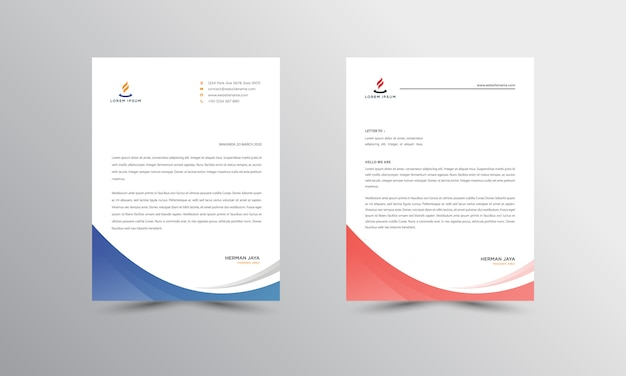Abtract letterhead design modern business letterhead
