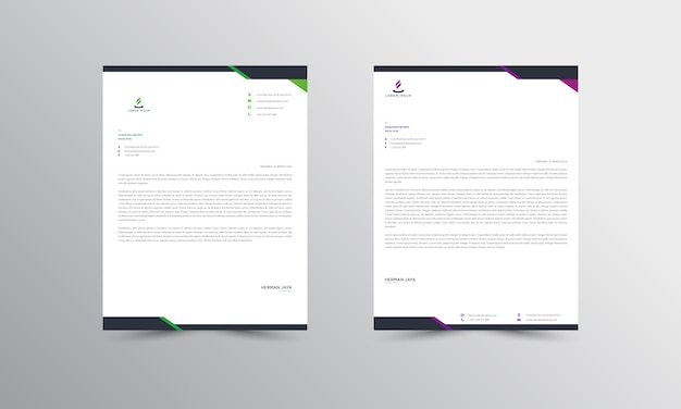 Abtract letterhead  template