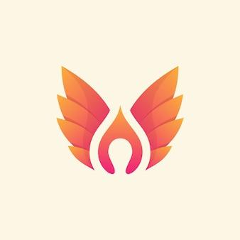 Современные крылья abtract с йогой