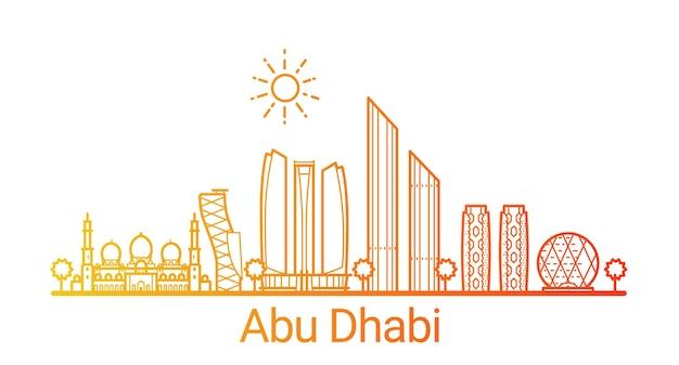 Цветная градиентная линия города абу-даби