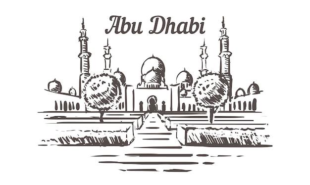 Абу-даби, мечеть шейха зайда нарисована