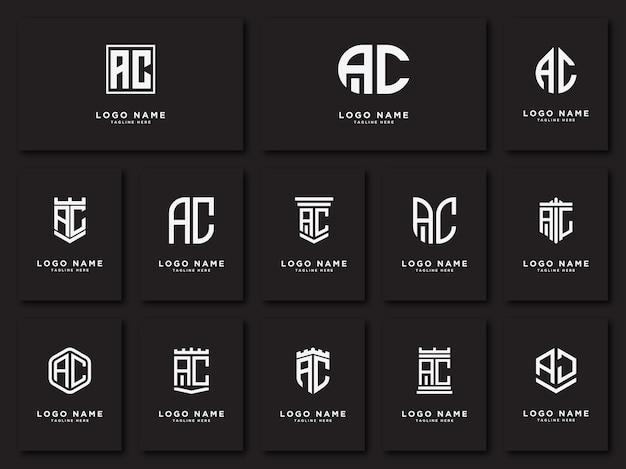Ac 이니셜 letters logo se 이니셜 템플릿