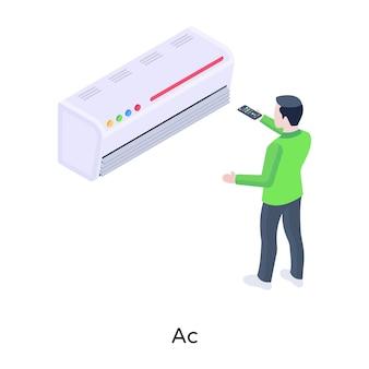 Ac изометрическая иллюстрация с высококачественной графикой