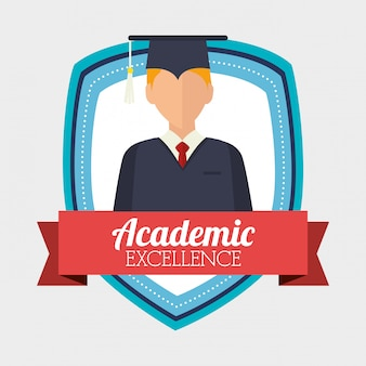 Academic excellence illustration
