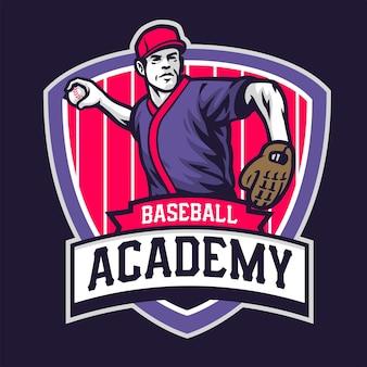 Academy of baseball badge design