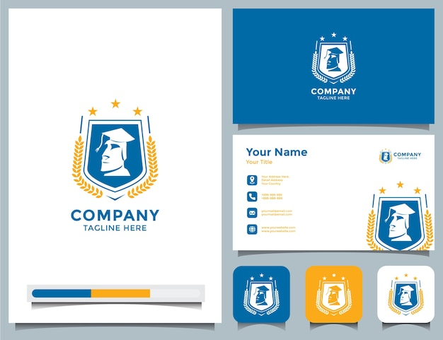 Academy logo and business card