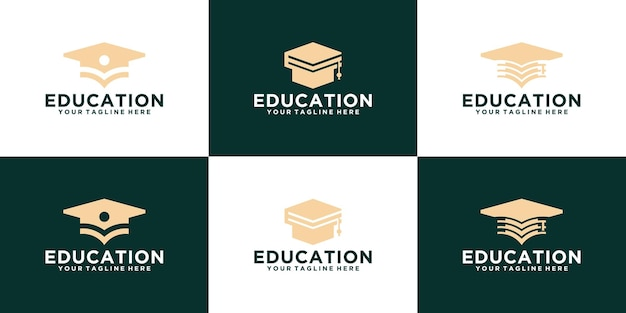 Academy toga logo collection for education