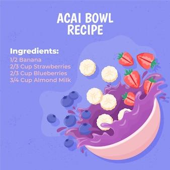 Acai bowl recipe concept