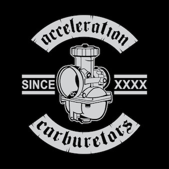 Acceleration of the carburetor logo design