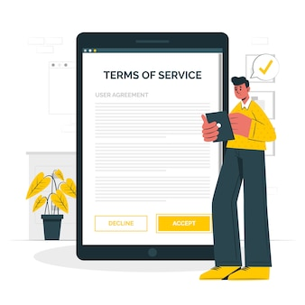 Accept terms concept illustration