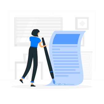 Accept terms law illustration concept
