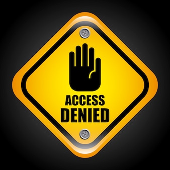 Access denied graphic design  vector illustration