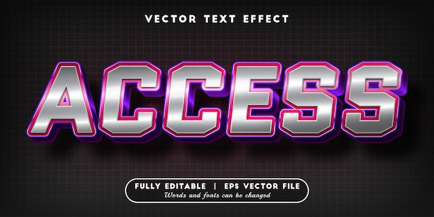 Access text effect with editable text style