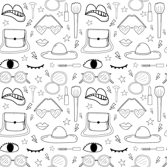 Accessories fashion seamless pattern