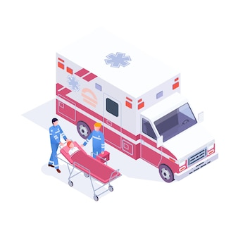 Accident ambulance aid service clinic emergency department infographics