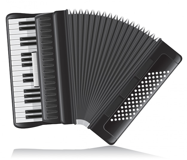 Accordion vector illustration