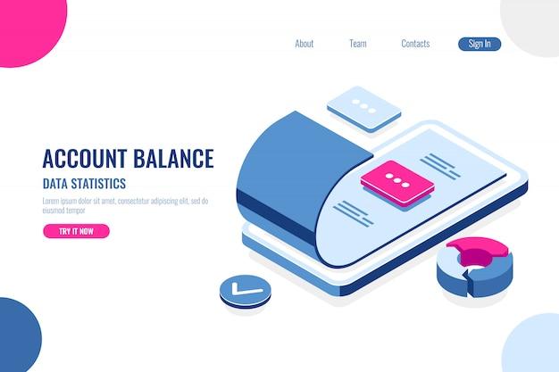 Account balance, data statistics