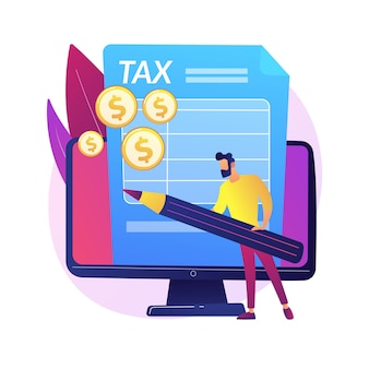 Accountant expertise. newsletter, notification for letters. bookkeeper calculation, booker with correspondence, submit document. view checklist online.  isolated concept metaphor illustration.