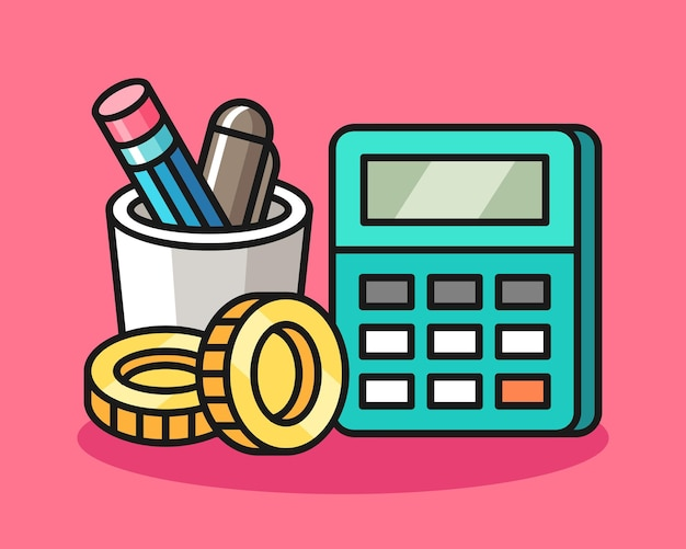 Иллюстрация инструментов бухгалтера