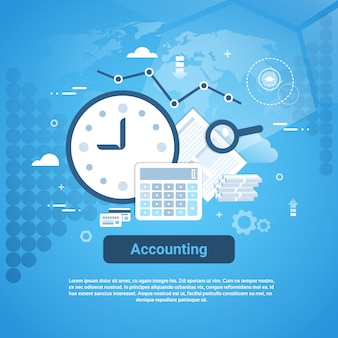 Accounting audit business web banner with copy space